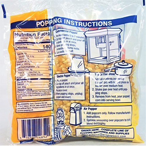 4113 Great Northern Popcorn Premium 10 Ounce Popcorn Portion Packs Cinema, Case of 24 by Great Northern Popcorn Company (Image #1)