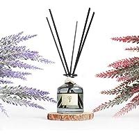 PRISTINE Lavender Reed Diffuser Set | 5 Scent Sticks with Lavender Essential Oil | Reed Diffuser Sticks with Oil 1.6oz…