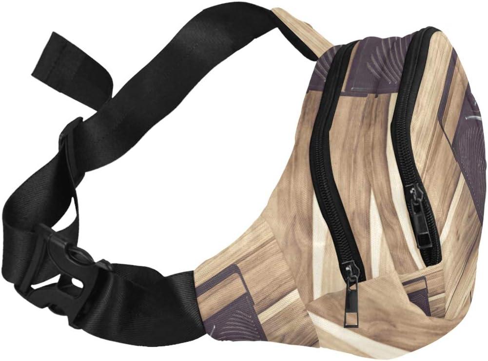 Old Radio And Headphones On Table Fenny Packs Waist Bags Adjustable Belt Waterproof Nylon Travel Running Sport Vacation Party For Men Women Boys Girls Kids