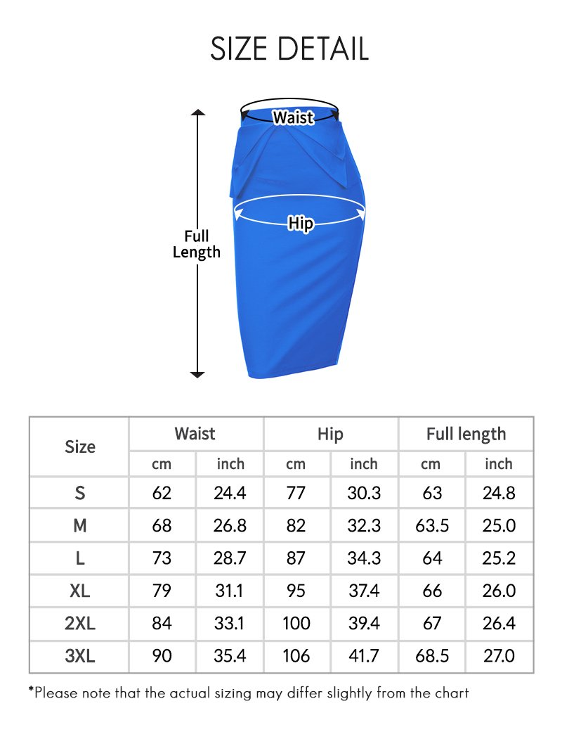 Regna X Womens high Waist Elastic Band Sexy Knee Length Skirts Brown XL by Regna X (Image #7)
