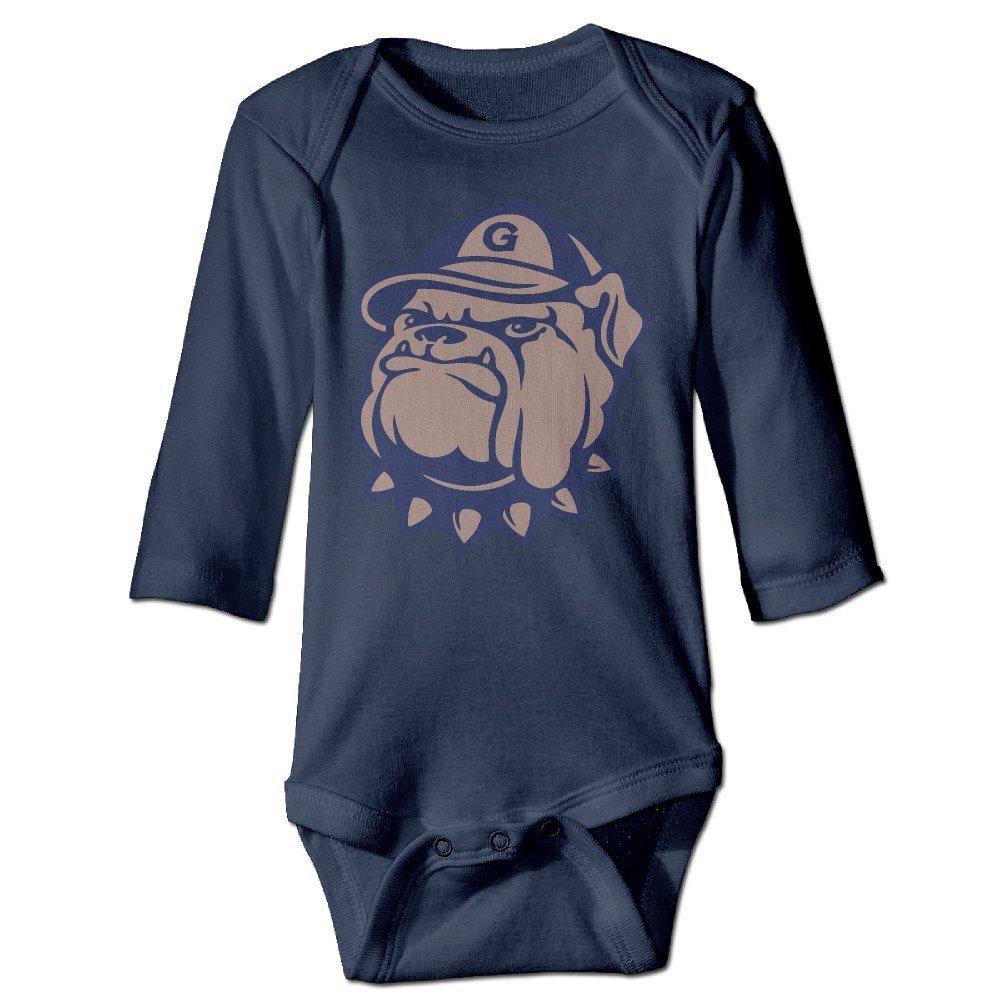 DELPT Georgetown University Hoyas Bulldog Cute Boy /& Girl Infants Romper Climb Clothes Navy