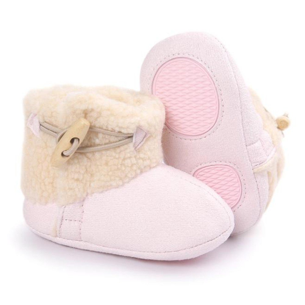 Rcool Baby Boots Baby Infant Warm Soft Sole Snow Boots Shoes Soft Crib Shoes Toddler Boots