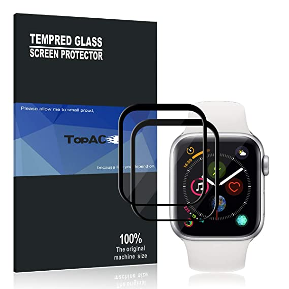 size 40 75cce 3878a Apple Watch Series 4 40mm Screen Protector, TopACE 9H Hardness Full  Coverage Bubble Free Tempered Glass 0.3mm Film for Apple Watch Series 4  40mm ...