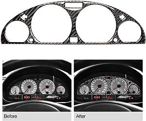 Everrich Carbon Fiber Internal Instrument Panel Decorative Frame Dashboard Cover Stickers Trim Interior For BMW E46 M3 1998-2005