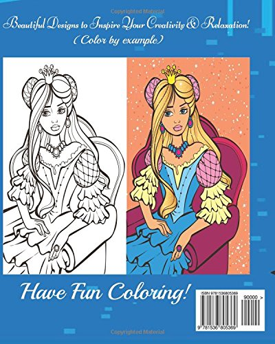 Disney Princess Color By Example A Blue Dream Adult
