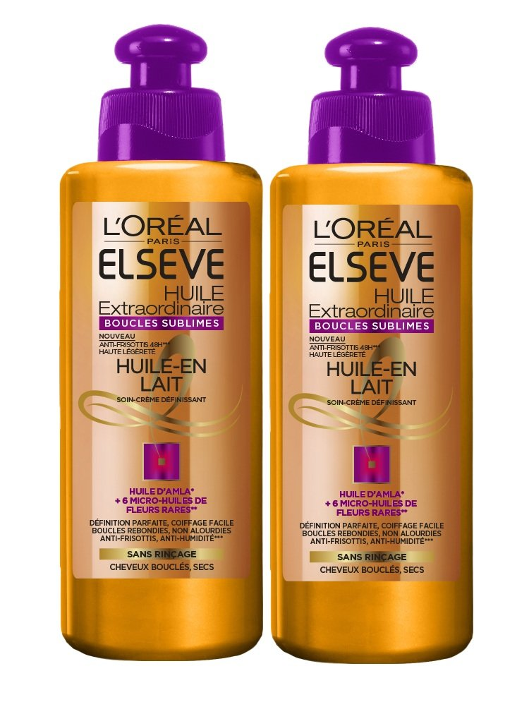 l 39 oreal elseve huile extraordinaire soin sans rin age cheveux boucles 200 ml ebay. Black Bedroom Furniture Sets. Home Design Ideas