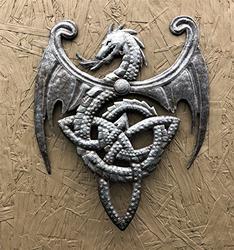 """It's cactus - metal art haiti Dragon, Metal Wall Mounted Art, Mythical, Celtic, and Gothic Sculpture 14\"""" x 17\"""""""