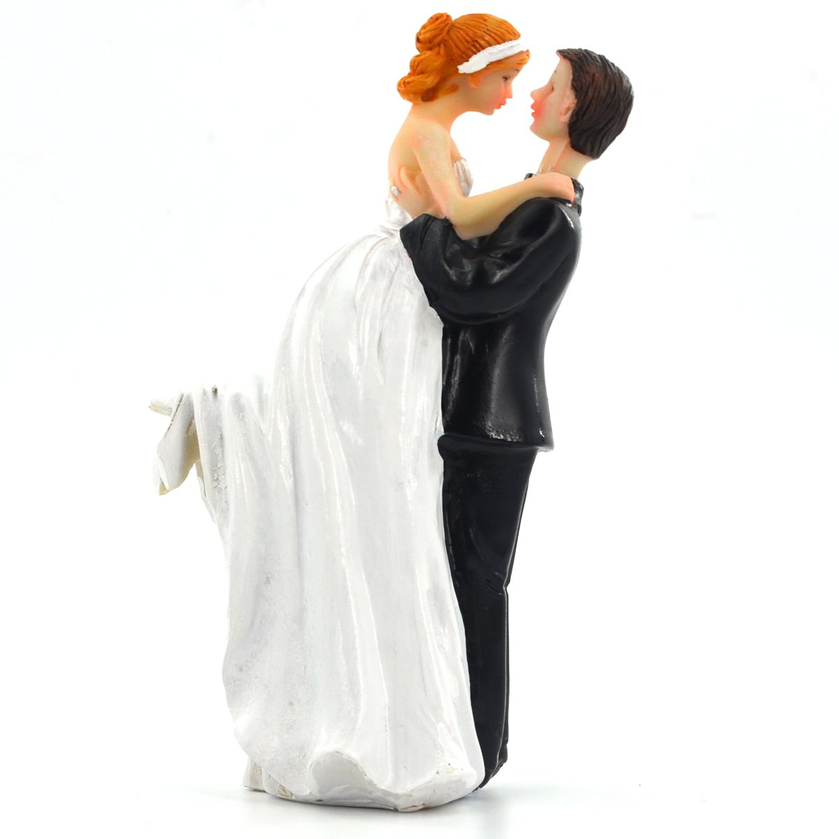 Marriage Celebration Cake Doll Painted Resinic Crafts Home Decoration Craft Decoration, Rose Bride & Groom Coupled Statues Resin Decoration 7 7 13.5cm