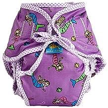 Kushies Reusable Swim Diaper (Medium, Purple Mermaids) by Kushies