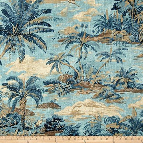 Waverly Home Decor Fabrics (Tommy Bahama Home Dec Scenic Beauty Riptide Fabric By The Yard)
