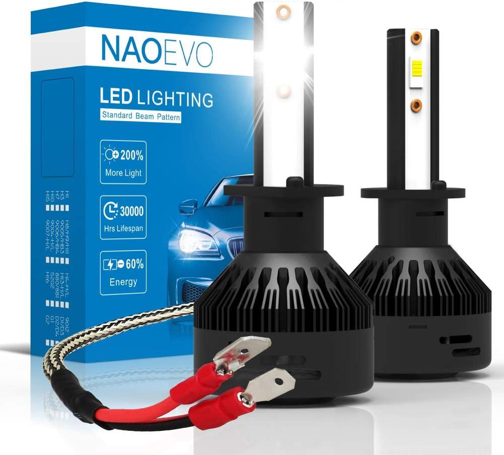 9006 HB4 Cree LED Headlight Kit 6500K High Power 72W 7600LM Super Brighter White