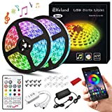 LED Strip Lights Kits,Elfeland Strips Lighting 10m 300LEDs RGB 5050 Bluetooth APP Music Speaker IP65 Waterproof Color Change IR Remote Control LED Light Strip for Garden Party Home Decoration 2x5m