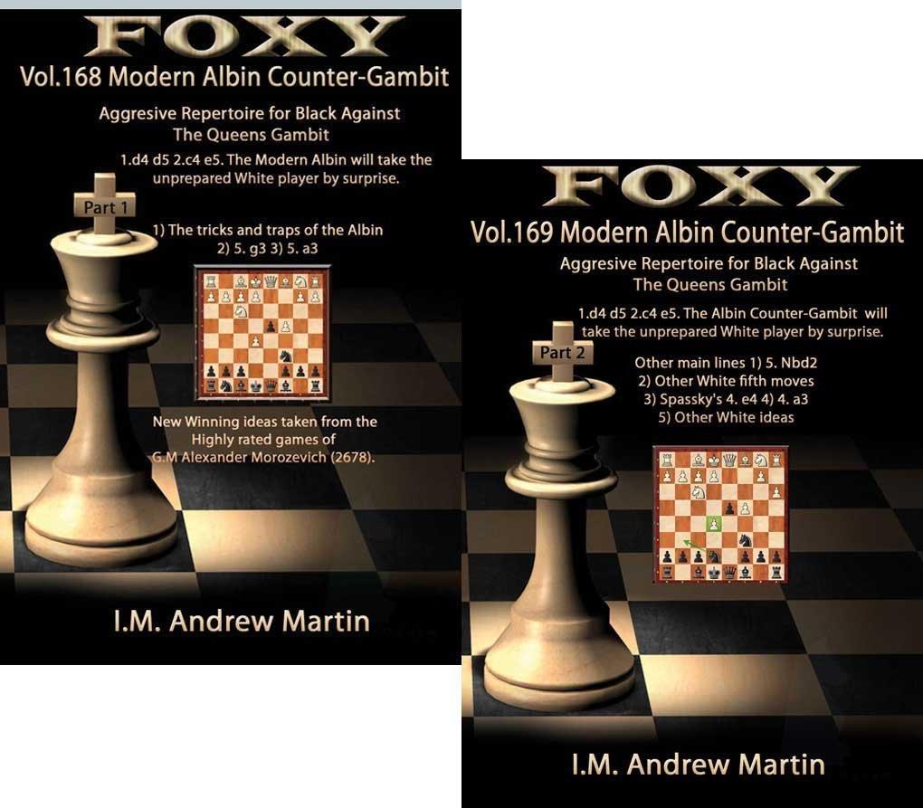 手数料安い Foxyチェス開口部、ボリューム168 B01MXUHX7S & 169 : The Modern ) Gambit Albin counter- Gambit : Aggressive Repertoire Forブラック( Part 1 & 2 ) B01MXUHX7S, 薩摩菓子処とらや:eee8520f --- cygne.mdxdemo.com