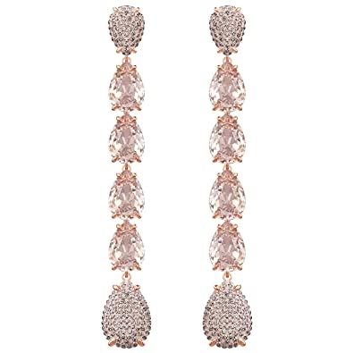 4da12fc3e Image Unavailable. Image not available for. Color: Swarovski Mix Pierced  Earrings, Pink, Rose Gold Plating 5427953