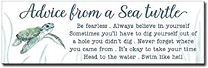 My Word! Advice from A Sea Turtle Decorative Home Décor Wooden Signs