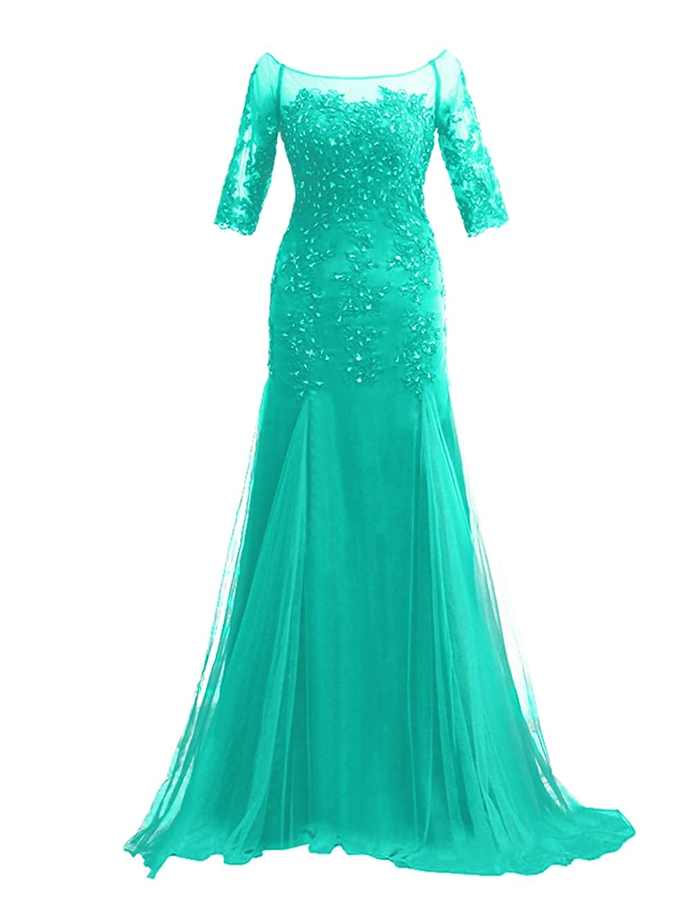 Green JAEDEN Mother of The Bride Dresses with Sleeves Evening Gowns for Women Formal Evening Dressess