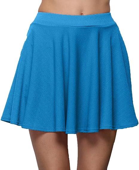 Falda inferior plisada de cintura alta para mujer, color mamum ...