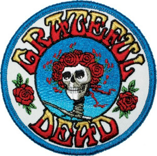 GRATEFUL DEAD Skull and Roses Logo PATCH - Officially Licensed Classic Rock GDP Artwork, 3.5 x 3.5, Iron-On / Sew-On Embroidered Patch by - Star Halloween Diy Costume Rock