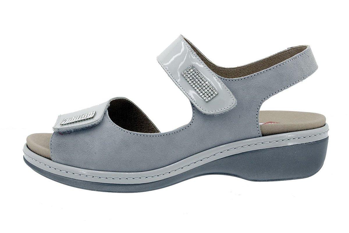 PieSanto Sandale mit Herausnehmbarem Fuszlig;bett 180818 Komfort Damenlederschuh  40 EU Charol Perla