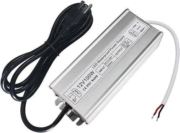 8 W Transformador LED 12 V DC +//- 0,5 V fuente de alimentaci/ón Driver Slim Controlador LED