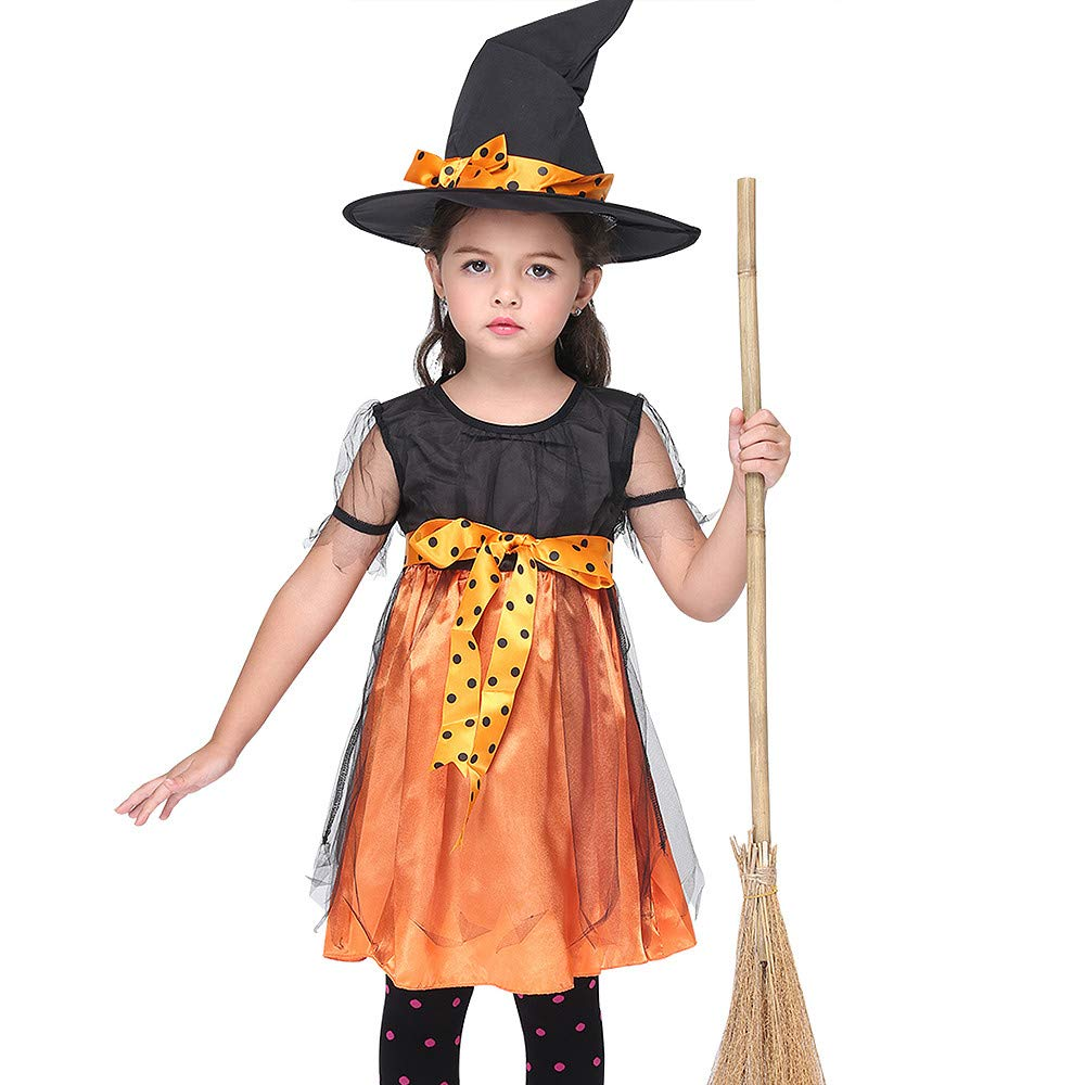 STAJOY Halloween Lovely Witch Costume for Girl (M)