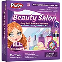 Playz Beauty Salon Arts and Crafts Activity Kit for Girls Ages 8, 9, 10, 11, 12 Years Old