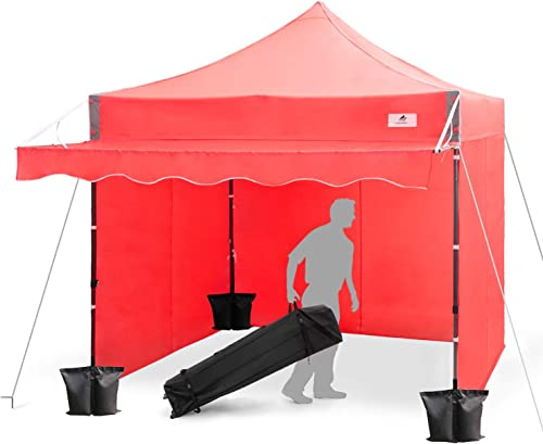 Finfree 10×10 FT Pop Up Canopy Tent Commercial Instant Canopy