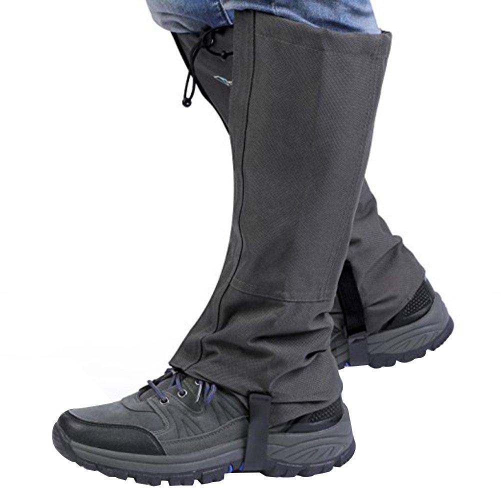 WINOMO Outdoor gaiters Waterproof for Hiking Walking Climbing gaiters hunting - Size S(Deep Grey)