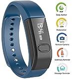 Smart-Braccialetto Fitness Tracker, megadream® Bluetooth 4,0 con funzione pedometro calorie localizzazione funzione di sorveglianza della salute di chiamata promemoria Orologio da polso con fasce per Iphone e Android, 3 colori disponibili