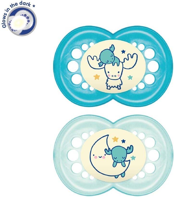 surtido, 2 unidades Chupetes de silicona con arandela para beb/és mayores de 6 meses MAM