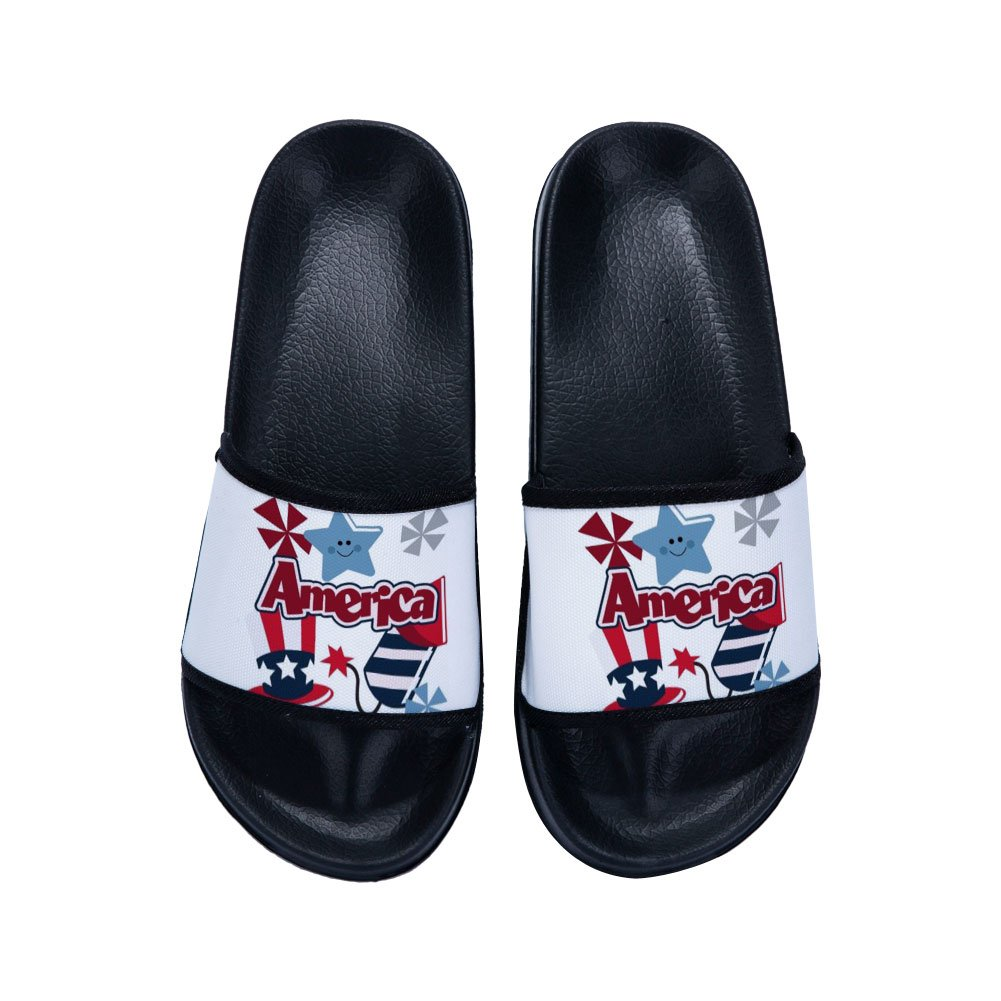 Drew Toby Boys Girls Shower Shoes Bathroom Slippers Soft Sole Open Toe House Slippers American