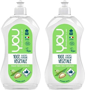 YOU - Líquido de vajilla ecológico para pieles muy sensibles y ...