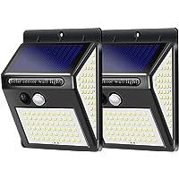 2 Pack High Brightness Solar Motion Sensor Light Outdoor, 270° Wide Angle/3 Modes/140 LED Solar Powered Security Lights…
