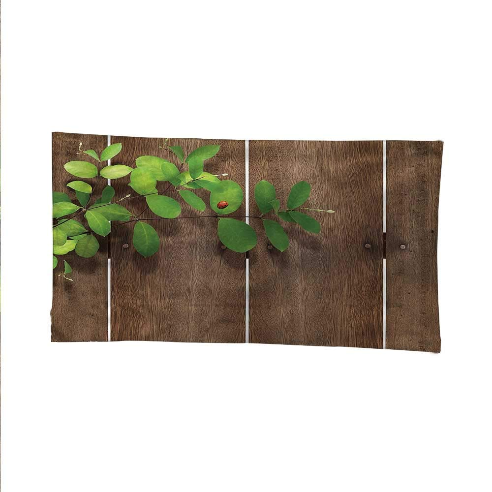 Ladybugsfunny tapestryquote tapestryGreen Leaves Wooden Planks 84W x 54L Inch