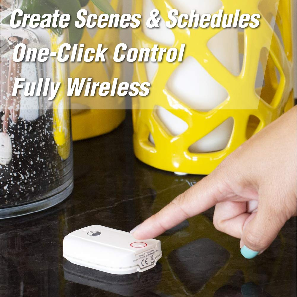 WiFi Enabled Battery Operated Smart Button Fox/&Summit FS-CB100 Control Button No Hub Required