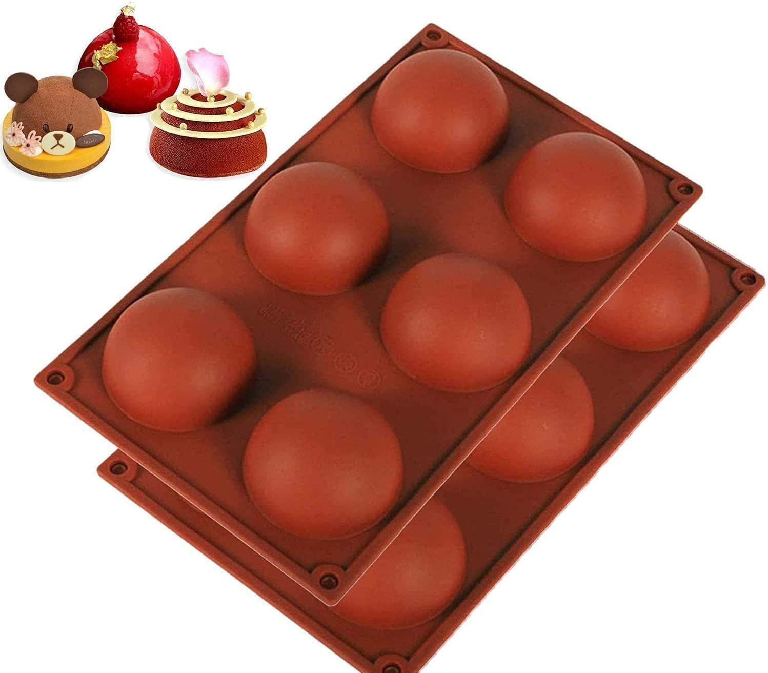 2Pack-2.7 inch hot silicone chocolate mold, 2.7
