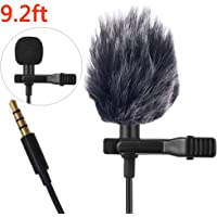 Professional Lavalier Lapel Microphone Windshield Mic for Apple iPhone Smartphones,Android, Recording Youtube,Interview,Video Conference,Podcast