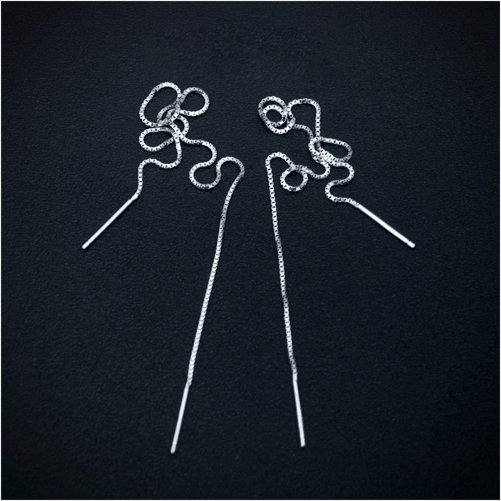 Sulida Boucles doreilles Boucles doreilles /à la Mode en Argent Temp/érament Longues Boucles doreilles Oreille pour Femmes Filles