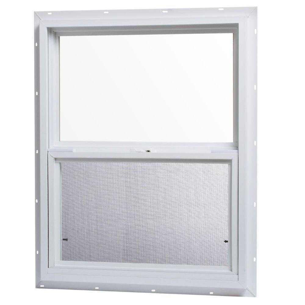 TAFCO WINDOWS 24 in. x 30 in. Single Hung Vinyl Window - White