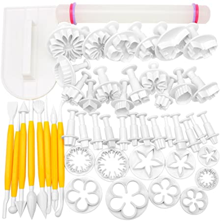h s 50pcs cake decorating tools fondant icing cutters sugarcraft