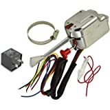 12v universal chrome street hot rod turn signal switch for ford gm buick  street rods with