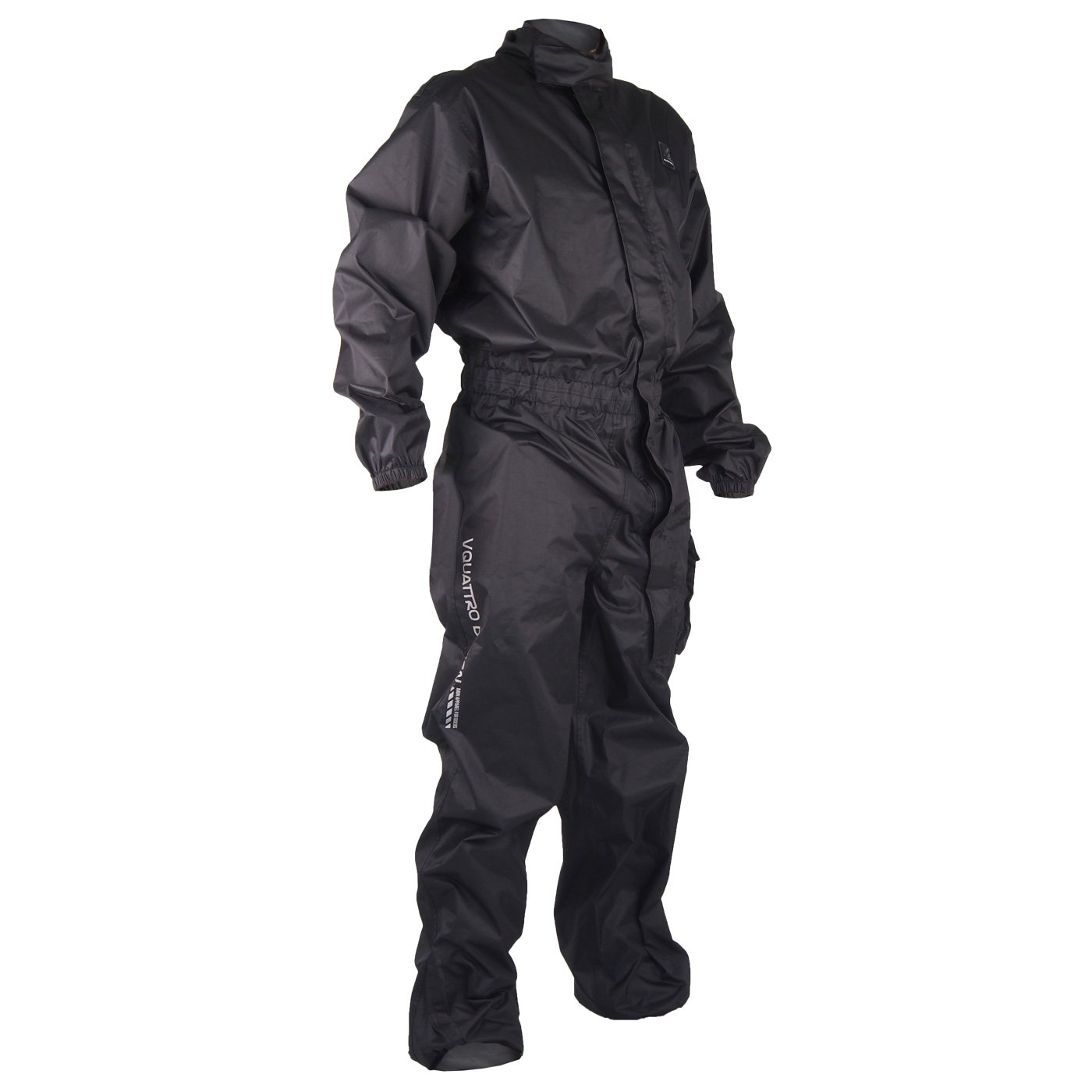 V Quattro Design Traje impermeable de motorista para hombre, color negro, XS Rider Valley Aixstream V4R-TAR-BKXS