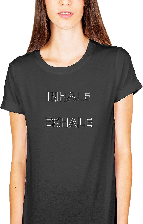 Desconocido Inhale Exhale Zen Yoga Quote_KK015092Camiseta de la Camisa Regalo de Las Mujeres Camiseta cumpleaños