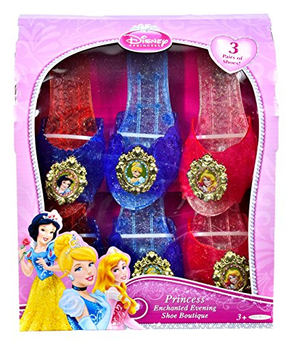 Disney Princess Disney Princess Enchanted Evening Shoe Boutique 3 Pack: Cinderella, Sleeping Beauty, Snow -