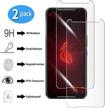 yueer [2 Piezas ASUS ROG Phone II/ZS660KL Protector de Pantalla ...