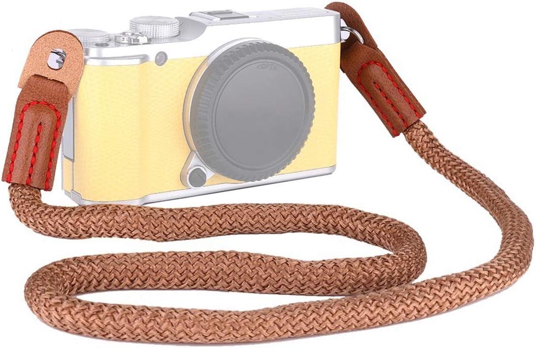 CYcaibang Camera Belt Miniskirt Cameras Brown Color : Brown Vintage Cotton Piano Shoulder Neck Strap