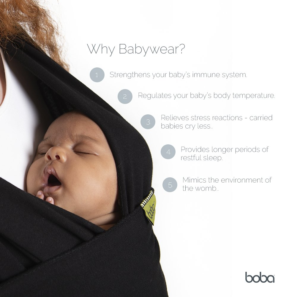 Boba Baby Wrap Black Bw1 002 Blac