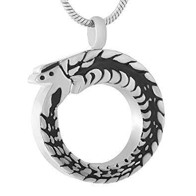Amazoncom Chinese Dragon Cremation Ashes Necklace Pendant Cool Men