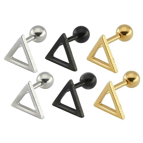 Amazoncom Beydodo Earring Stainless Steel Stud Men Earrings