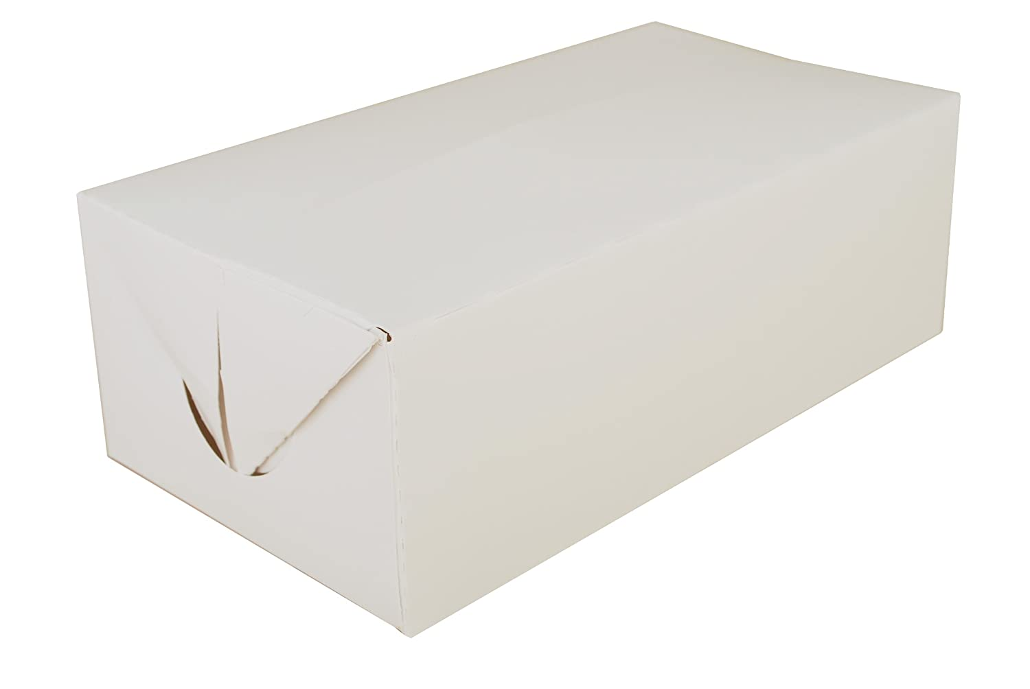 Southern Champion Tray 2730 Paperboard White Lunch Carry-Out Box, Fast Top, 8-7/8